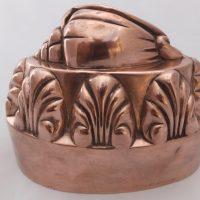 Rare Antique Conch Shell Copper Jelly Mould Mold
