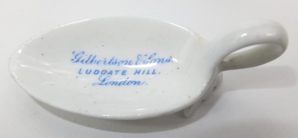 Gilbertson Ludgate Hill Porcelain Advertising Medicine Spoon