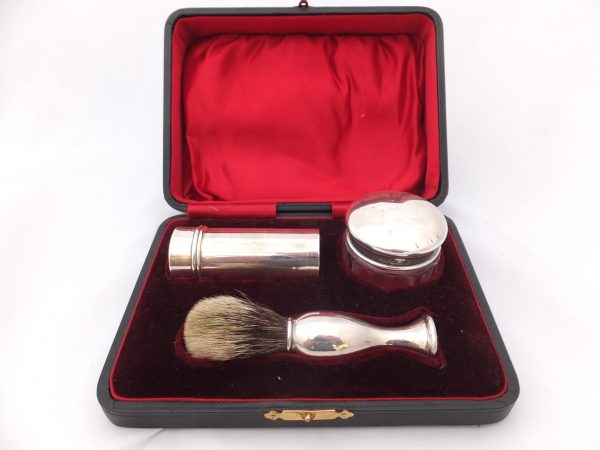 Silver Shaving Brush Boxed Levi & Salaman