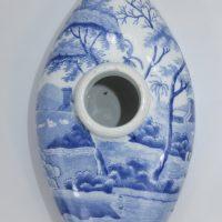 Spode Pottery Blue & White Feeding Bottle Tower Pattern
