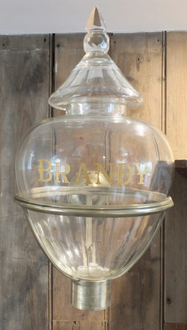 Antique Cut Glass Brandy Dispenser
