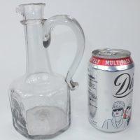 Very Rare Antique Octagonal Handled Flint Glass Decanter C1730