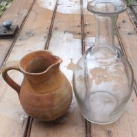 Antique Normandy Glass Cider Decanter