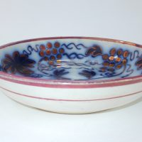 Flow Blue Pottery Fruit Bowl John Carr North Shields