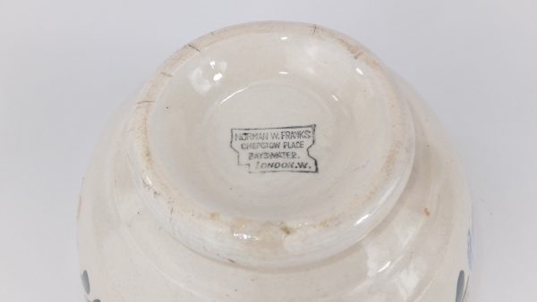 Spongeware Bowl & Lid Norman Franks