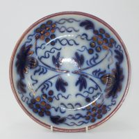 Flow Blue Pottery Fruit Bowl John Carr North Shields