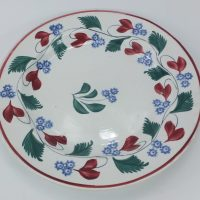 Floral Spongeware Pottery Plate