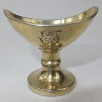 Antique Solid Silver Gilt Eyebath