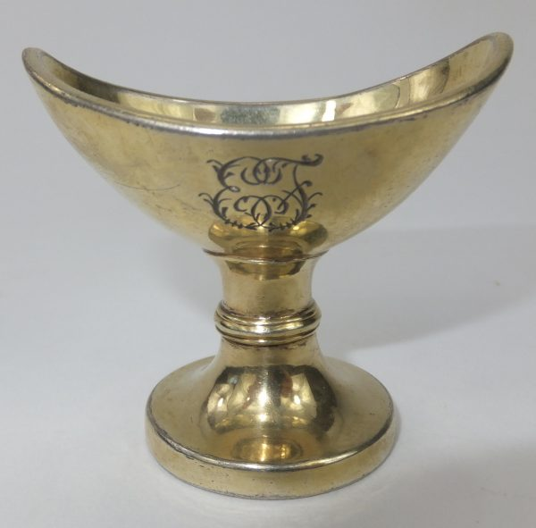 Antique Solid Silver Gilt Eyebath