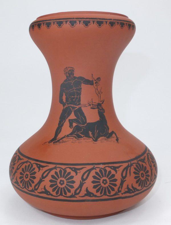 Prattware Terracotta Hyacinth Vase