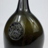 Antique Sealed Bladder Wine Bottle 1756