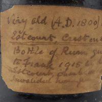 Sealed Black Glass Rum Bottle 1809 Estcourt Gloucestershire
