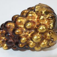 Antique Christmas Gold Grape Glass Kugel