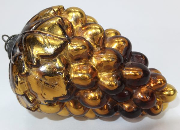 Antique Christmas Gold Grape Glass Kugel