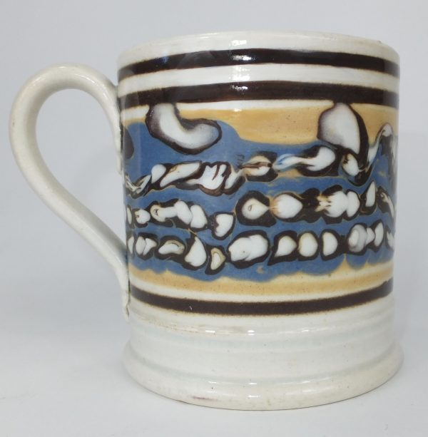 Antique Mocha Ware Mochaware Pottery Mug