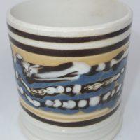Antique Mocha Ware Mochaware Pottery Mug