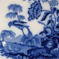 Antique Asiatic Pheasant Pottery Copeland Late Spode Flow Blue Chargers