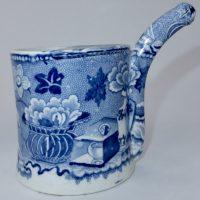 Semi China Blue Transfer Printed Bubby Pot