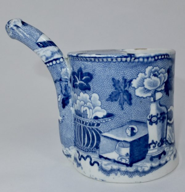 Semi China Blue Transfer Printed Bubby Pot