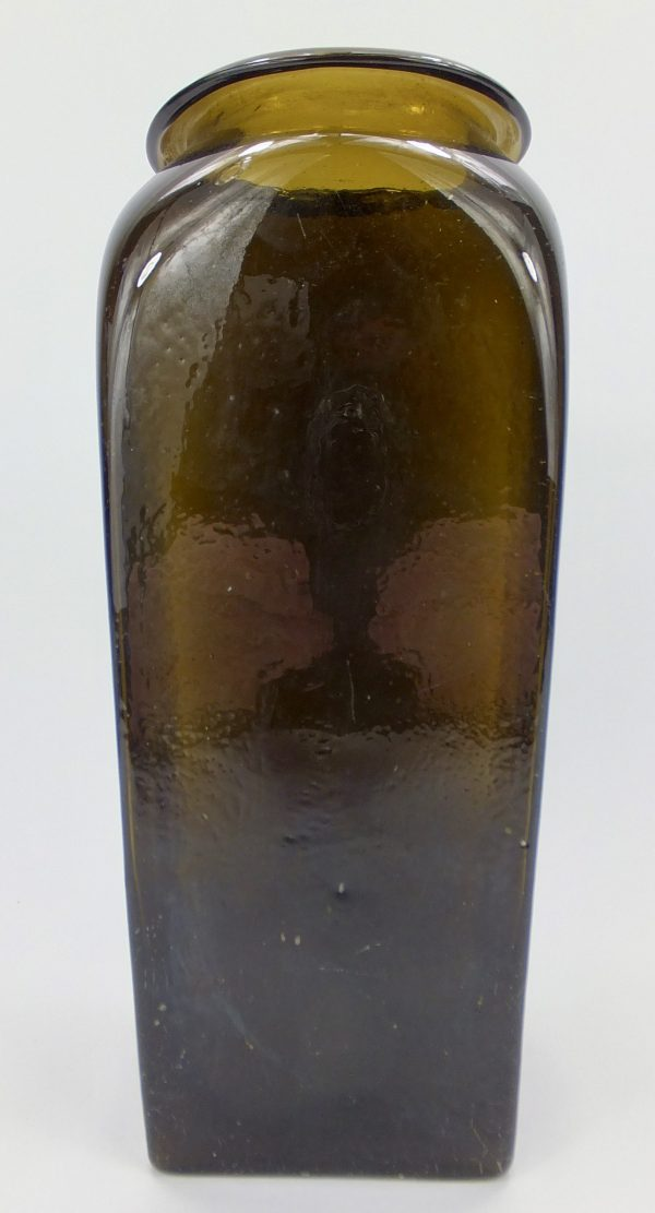 Rare Black Glass Wide Mouth Case Bottle Holland Belgium