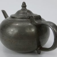 Antique Pewter Biberon Invalid Feeder Pot