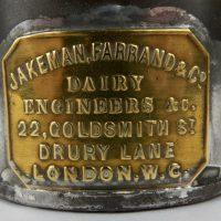 Rare Small Dairy Tin Cream Can Jakeman Farrand Drury Lane London