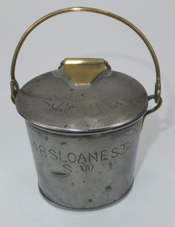 Walker Sloane St Jordan & Sons Tin Cream Can London