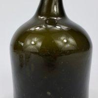 Antique Black Glass Porter Beer Bottle