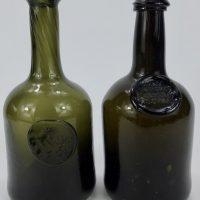 Antique Glass Joao Antonio Pereira E,Souza Sealed Port Bottle Portugal