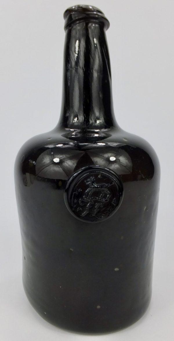 Antique Glass Sealed Mallet Wine Bottle Fox Talbot Dog?