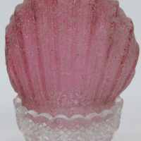 Clamshell Red Ruby Glass Fairy Lamp
