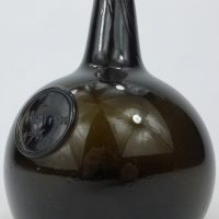 Antique Sealed Glass Onion Bottle I Warren 1764