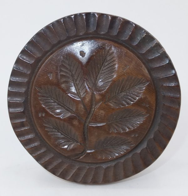 Antique Treen Wood Butter Stamp