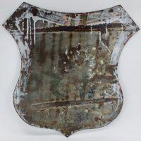 Antique Porcelain Enamel Sign Burmah Oil Company Motor Spirit