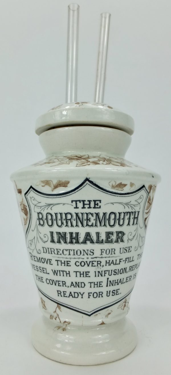 Rare Pottery Inhaler The Bournemouth