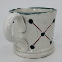 Miniature Spongeware Pottery Mug