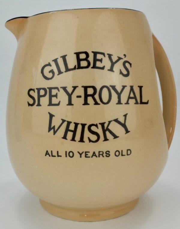 Gilbeys Spey Royal Whisky Water Pub Jug