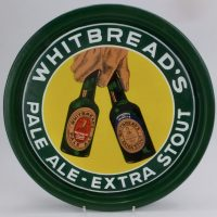 Whitbread,s Pale Ale & Stout Beer Enamel Tray
