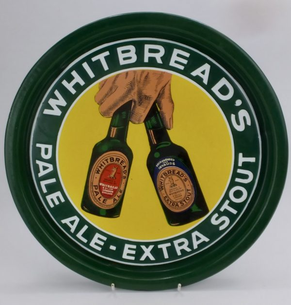 Whitbread,s Pale Ale & Stout Beer Enamel Tray