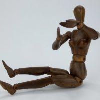 Rare Antique Female Artists Wood Lay Figure