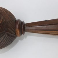 Antique Yew Wood Nautilus Shell Nutcracker