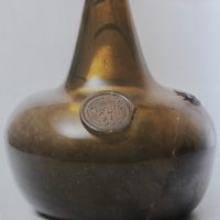Early English Glass Onion Bottle C1685/1695
