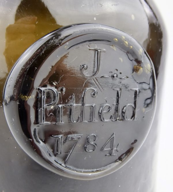 J*Pitfield Sealed & Dated Wine Bottle 1784 Dorset