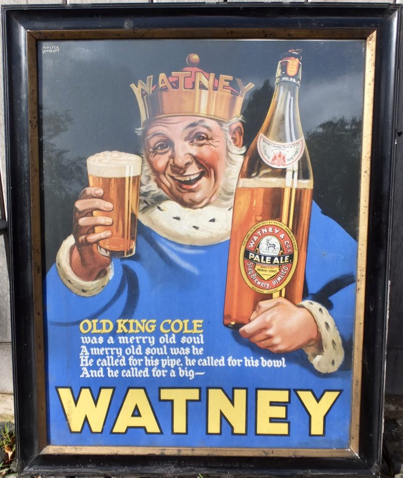 Watney Combe Reid Ale Brewery Advertising Showcard Walter Lambert