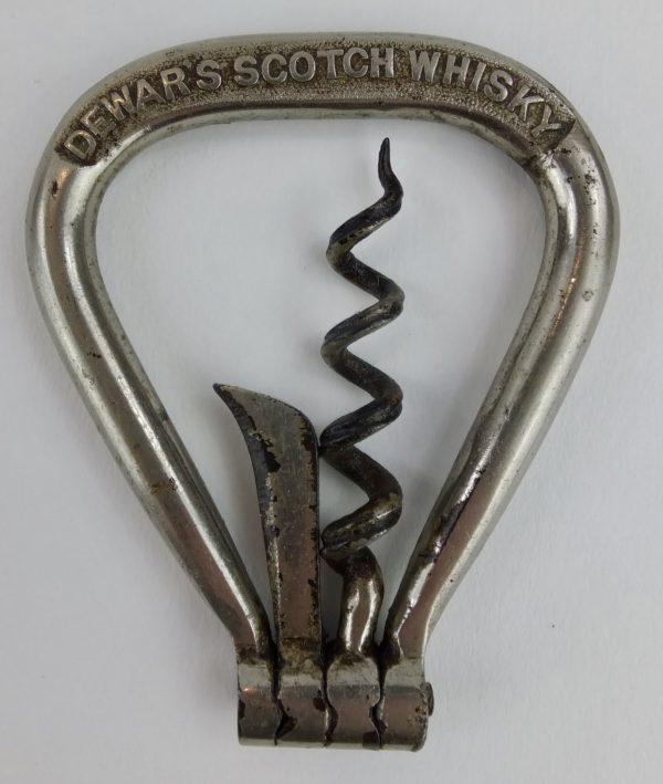 Dewars Scotch Whisky Multi Tool Advertising Folding Bow Corkscrew