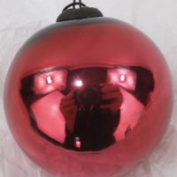 Antique Cranberry Red Mercury Glass Christmas Ornament Kugel