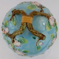 George Jones Majolica Pottery Cheese Dome