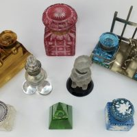 Antique Glass Inkwell Ink Pot Collection Decorators Concept 2