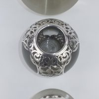 Antique Large Gentlemans Matchstriker Vesta Match Holder Hallmark Silver 1917