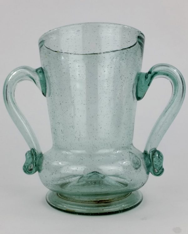 Rare Antique Glass Sealed Loving Cup